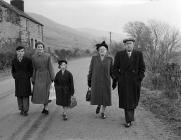 A family leaving Capel Celyn (Cwm Tryweryn) for...
