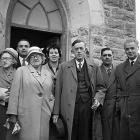 Group outside the Calvinistic Methodist Chapel,...