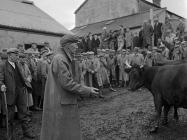 The last sale at Gwerngenau Farm, Capel Celyn,...
