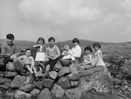 The children of Ty Nant farm, Cwm Croes, Capel...