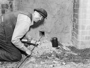 Worker at Pentre Works Ceramics (J. G. Edwards)...