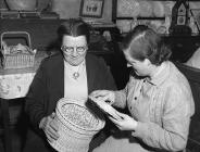 Basket-weaving class at Ty Cerrig, Pennant-lliw...
