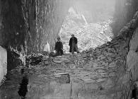 Quarrymen at Aberllefenni Slate Quarry, 18...