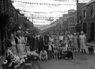 Rhondda street party, 24 August 1951