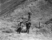Red Cross mountain rescue exercise at Bwlch Cwm...