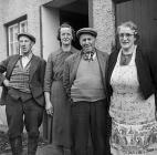 Tenants of Dwyryd farm, near Corwen, who were...