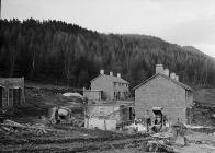 New houses under construction at Llanelltud,...