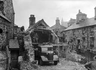 Demolition of cottages in Dolgellau, 1 February...