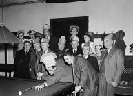 Snooker game at Rhaeadr Gwy Clements Club, 1...