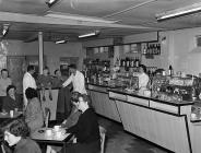 Barmouth milk bar, 1 February 1957