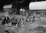 Gypsies camping, probably near Swansea, 1 July...