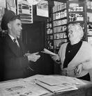 Gertrude C. Owen, the village shop, Llanelltud,...