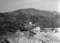 The village of Bwlch-gwyn which was under...