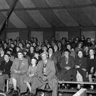 The audience enjoying the Robert Bros. Circus...