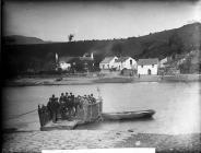Tal-y-cafn ferry, c. 1885