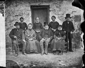 Residents of the almshouses, Ysbyty Ifan, c. 1875