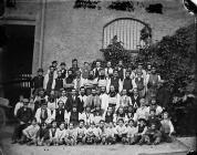 Workers at Hughes factory, Llangollen, c. 1875