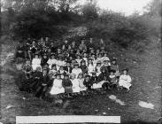 Llansannan children on Club day, c. 1885