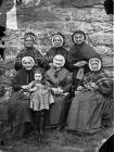 A group of women from Ysbyty Ifan almshouses, c...