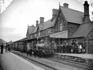 The railway station, Machynlleth, c. 1885