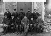 Old sailors, Borth, c. 1885