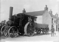 Traction engine, Whitland, c. 1885