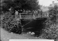 Vicarage bridge, Llanrhaeadr-ym-Mochnant, c. 1885