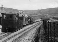 A tram at Llansanffraid Glynceiriog, c. 1875