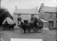 A coach at Cenarth, c. 1885