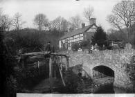 The old factory, Trefeglwys, c. 1885