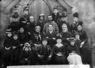 The Wesleyan Sunday school, Carno, c. 1885