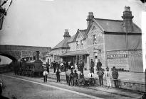 The railway station, Penygroes, c. 1875