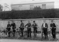 Cyclists, Narberth, c. 1885