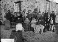 Workers at Sarn Mellteyrn wool factory, c. 1885