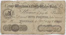 Banknote of the Wrexham & North Wales Bank,...
