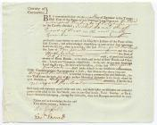 Memorandum of Recognizance, 7 September 1787