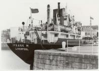 Caernarfon pier oil berth with the oil tanker &...
