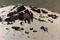 'Hill Farmers' by Kyffin Williams (oils)