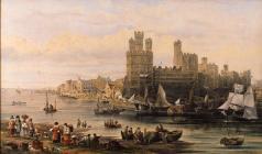 'Caernarfon Castle, Market Day' by J....