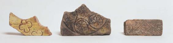 Glazed medieval tiles from Llan-faes Franciscan...