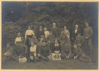 Soldiers and staff at Plas Trescawen, Anglesey,...