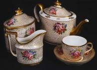 Part of a Coalport china tea-set which belonged...