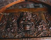 Wood carving depicting the 'Green Man'...