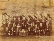 Band pres y Royal Oakeley, Blaenau Ffestinog,...