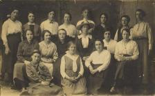 Women who knitted socks at Blaenau Ffestiniog...