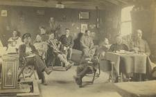 Prisoners of war at Fron-goch camp,...