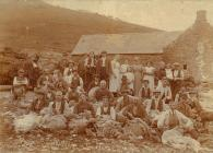 Shearing sheep at Penantigi Uchaf, Dinas...