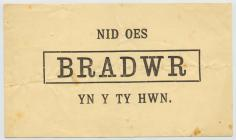 Printed card published during the Penrhyn...