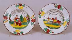 Toy plates from the Glamorgan Pottery, Swansea,...