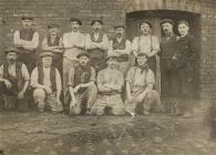 Workers at the Dee Bank Lead works, Bagillt, c....